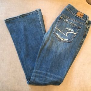 American Eagle Outfitters Flare/Ripped Jeans